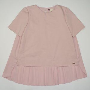 TED BAKER Pink Pleated Back Naevaa Blouse Top